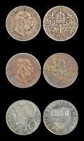 Austria 1914 & 1916 1 Corona, Silver, KM#2820 and 1957 10 Schilling, KM#2882