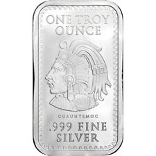 1 oz. Golden State Mint Silver Bar Aztec Calendar .999 Fine