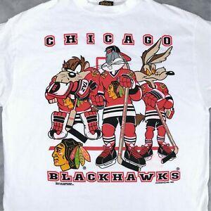 Vintage 90s CHICAGO BLACKHAWKS L0ONEY TUNES T-Shirt Unisex Reprint TK5061