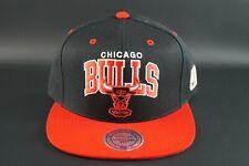 MITCHELL & NESS  CHICAGO BULLS HWC TEAM TONE ADJUSTABLE SNAPBACK HAT CAP NBA