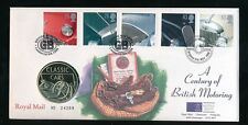 GB 1996 CENTURY of MOTORING ROYAL MINT FDC MEDALLIC COVER