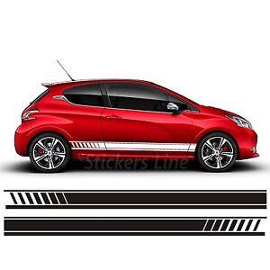 Fasce adesive Peugeot 208 strisce fiancate adesivi laterali peugeot 208 stickers