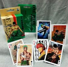 One Piece Roronoa Zoro Cosplay Playing Cards Funny Table Game Paper Poker Cards