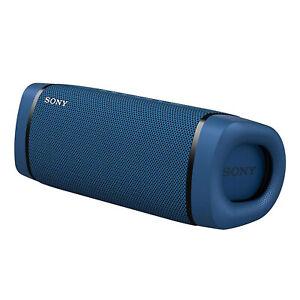 SONY SRS-XB33 Blau Tragbarer Bluetooth NFC Lautsprecher Smartphone-Steuerung
