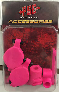 NEW PSE ARCHERY PINK COLORED RUBBER SET W/ SHOCK MODZ DAMPNER KIT FOR PSE BOW