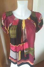 Style & Co Pink Multi Coloured Tunic Top Size L Summer Holiday