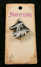 Fairy Tale by Bead Treasures - Silver Wolf - Charm or Pin - 1.25 Inches