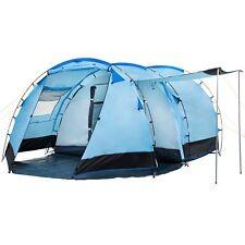 Tunnelzelt Familienzelt Zelt mit 3000 mm Wassersäule 4 Personen Blau-Schwarz