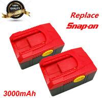 2x Snap on Battery CTB4185 CTB4187 18V 3Ah 3000mAh Li-ion  CTB6185 CT6187 CT6850