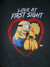 DESPICABLE ME MINION MADE LOVE AT FIRST SIGHT LAYERED LOOK T-SHIRT NEW