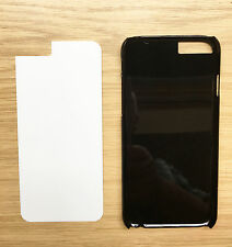 Black Sublimation Case Cover for Apple iPhone 6  - Incl Insert Alum Panel