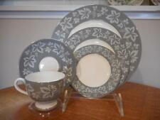 Wedgwood Grey Moselle bone china FIVE piece place setting - EXCELLENT!!