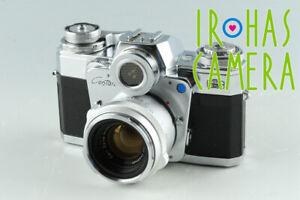 Zeiss Ikon Contarex + Planar 50mm F/2 Lens #35519E3