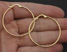 e80cef684729e 10k Gold Hoop Earrings Large for sale   eBay