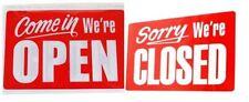 Open Closed Hanging Sign Shop Door Window