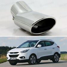 Silver Curved Tailpipe Exhaust Muffler Tail Pipe Tip for Hyundai ix35 2011-2014