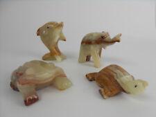 Animali in Onice Arredamento d'antiquariato Rana Delfino Tartaruga Elefante