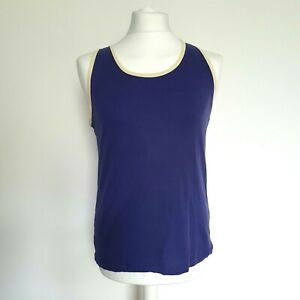 Mens Purple & Yellow Basic Plain 100% Cotton Summer Vest Tank Top Small