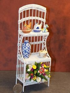 Dollhouse Miniature Metal Kitchen Bakers Rack 1:12 inch scale Y16 Dollys Gallery