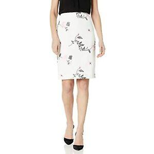Kasper Women's Emboridered Floral Scuba Crepe Slim Skirt (Tutu Pink Multi, 18)