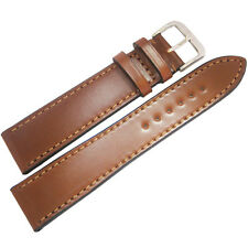 18mm Rios Springfield Cognac Tan FLAT Shell Cordovan Leather Watch Band Strap