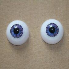 22mm Half Round Eyeball Purple Fit for Reborn Baby Dolls Accessories Acrylic Eye