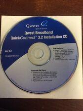 Quest Broadband Quick Connect 3.2 Installation CD Win 98SE/2000/XP/Vista/Mac OS