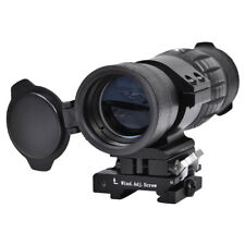 3X Magnifier Sight Scope 20mm Flip To Side Mounts For Red Dot Sight Airsoft MF