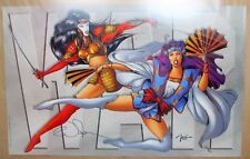 "1996 Shi vs Tomoe WAR Poster Signed by William Billy Tucci 22x34"" Crusade Comics"