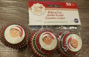 Wilton 50+ Count Christmas North Elf on the Shelf Baking Cups, Mini approx 75 ct
