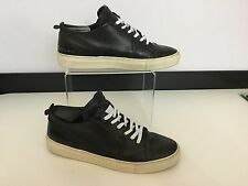 Ysl Yvette Saint Laurent Mens Size Uk 6 Eu 39 Black Leather Shoes Sneakers Low