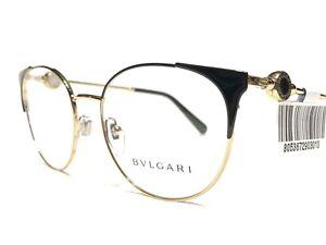 NEW Bvlgari 2203 2033 Women's Black & Gold Designer Eyeglasses Frames 54/18~140