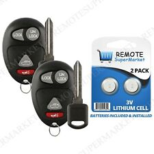 Replacement for Buick Century Regal Rendezvous Remote Car Key Fob Set Pair