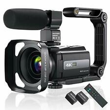 4K 60FPS Video Camera Camcorder Ultra HD 48MP YouTube Vlogging WiFi...