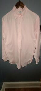 Brooks Brothers Makers Pink Regent Made in USA Long Sleeve 15-32 Men's Cotton