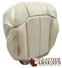 2002 Cadillac Escalade Driver Side . Bottom Perforated Leather Seat Cover Shale