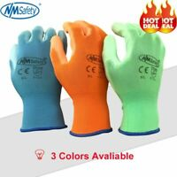 Colorful PU Safety Work Gloves Builders Grip And Garden For Palm Coating Gloves