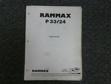 Rammax P3324 Trench Roller Parts Catalog Manual
