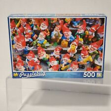 "New in Box Puzzlebug 500 Piece Garden Gnomes Puzzle 18"" x 11"""