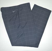 NIKE GOLF Tour Performance Dri-Fit Stretch Flat Front Navy Golf Pants 36 x 30