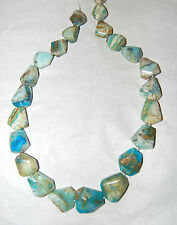 """FACETED BLUE PERUVIAN OPAL FREEFORM BEADS - 17.5"""" Strand - 193C"""