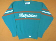 New Vintage Cliff Engle Miami Dolphins Teal Sweater Size Large L NFL 00d9e0023