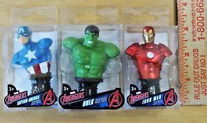 3 Marvel Avengers Cake Decor Topper Paper Weight Hulk Iron Man Captain America