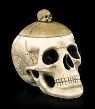 Casket - Skull with Skullcap Large Gothic Skull Jewellery Box