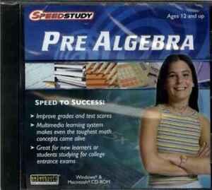 Speed Study Pre Algebra Study Guide Exam Prep ages 12+, PC Software, NEW