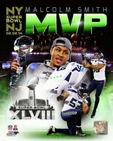 "2014 Super Bowl XLVIII ""MVP"" MALCOLM SMITH Seattle Seahawks LICENSED 8x10 photo"