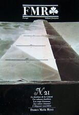 FRANCO MARIA RI1CI REVUE ART FMR No 21 de 1989 REVOLUTION PYRAMIDES SABRES MODES