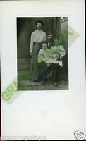 Antique Photo -Meyer Family-Mary, Fred, Lucille &Etta, Man W/Stache Lady 2 Girls