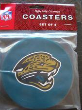 1 - 4 Pack Vinyl Drink Coasters - Jacksonville Jaguars