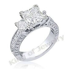 3.50 Ct. Princess Cut Diamond Engagement Ring 14k Gold